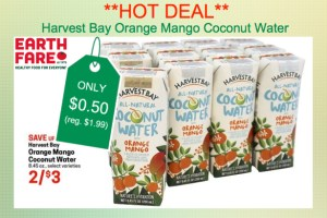 Harvest Bay Orange Mango Coconut Water Coupon Deal