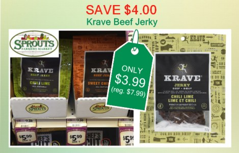 Krave Beef Jerky coupon deal