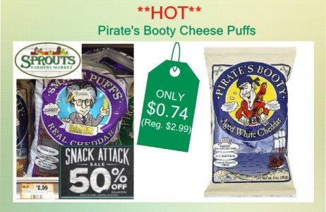 Pirate's Booty Cheese Puffs coupon deal 1