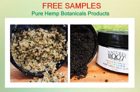 Pure Hemp Botanicals Products free sample