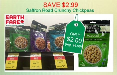 Saffron Road Crunchy Chickpeas coupon deal