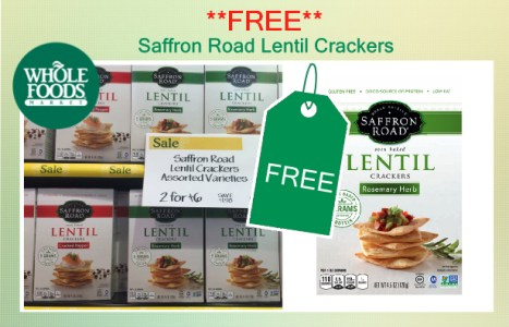 Saffron Road Lentil Crackers coupon deal