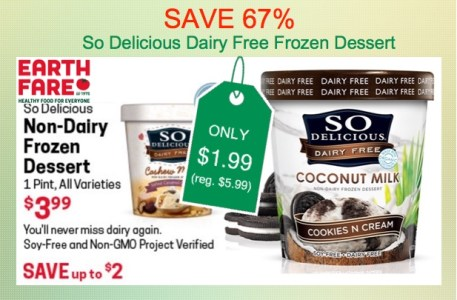 So Delicious Frozen Dessert Coupon Deal Earth Fare