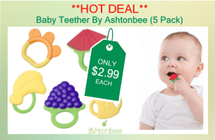 Baby Teether By Ashtonbee (5 Pack)