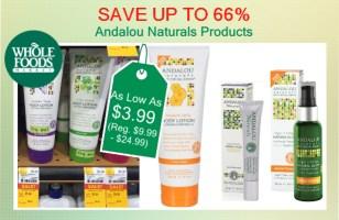 Andalou Naturals products coupon deal 1