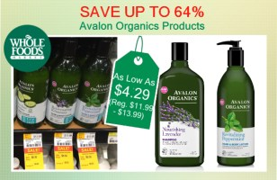 Avalon Organics Products coupon deal