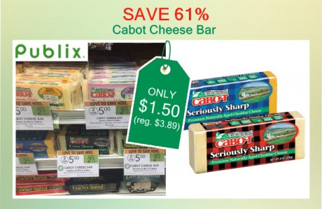 Cabot Cheese Bar coupon deal