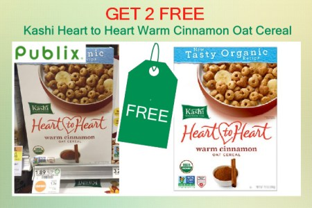 Kashi Heart to Heart Warm Cinnamon Oat Cereal coupon deal 1