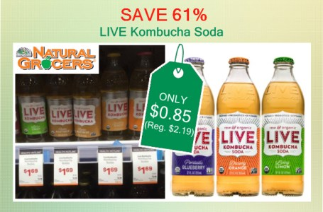 LIVE Kombucha Soda coupon deal