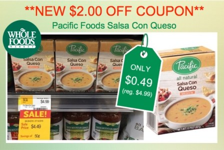 Pacific Foods Salsa Con Queso Coupon Deal