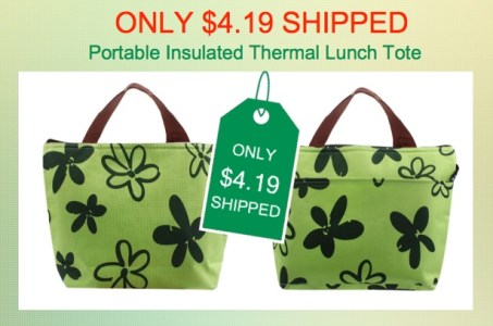 Portable Insulated Thermal Lunch Tote