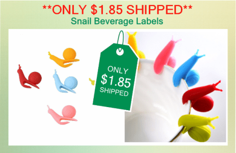 Snail Shaped Beverage Labels IG