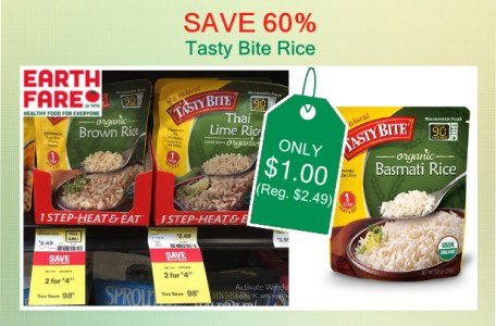 Tasty Bite Rice coupon deal