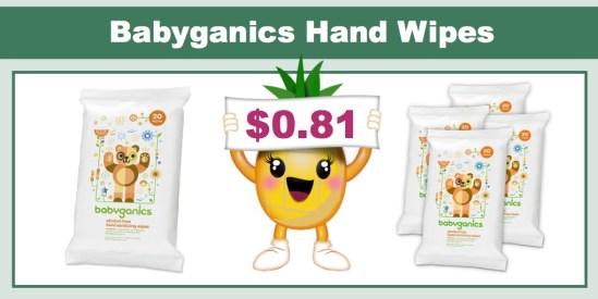 Babyganics Hand Wipes