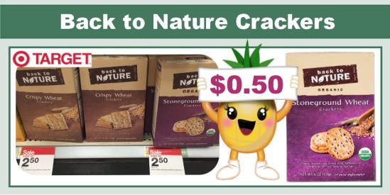 Back to Nature products coupon deal target
