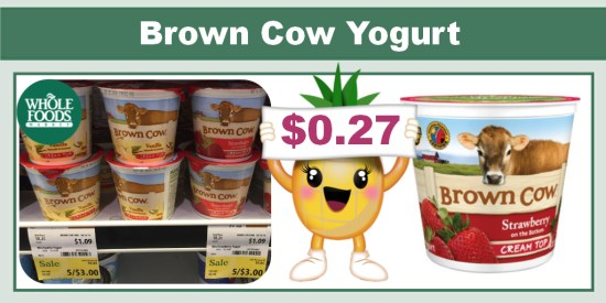 Brown Cow Yogurt coupon deal