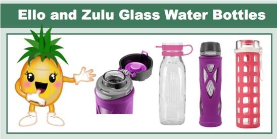 Ello and Zulu Glass Water Bottles
