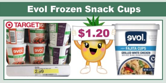 Evol Frozen Snack Cups coupon deal