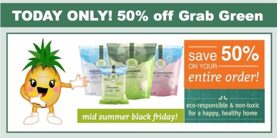 50% off Grab Green