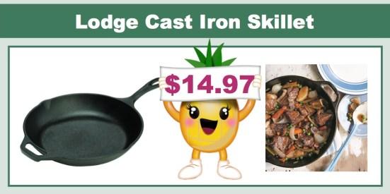 Lodge Pre-Seasoned Cast-Iron Chef's Skillet