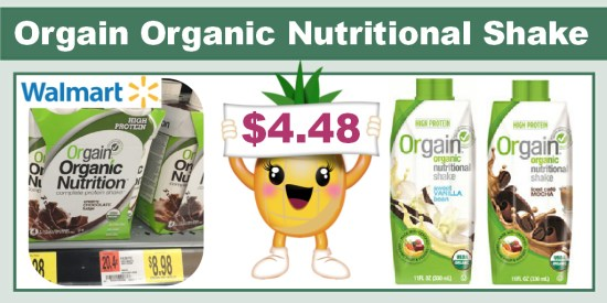 Orgain Organic Nutritional Shake coupon deal 1
