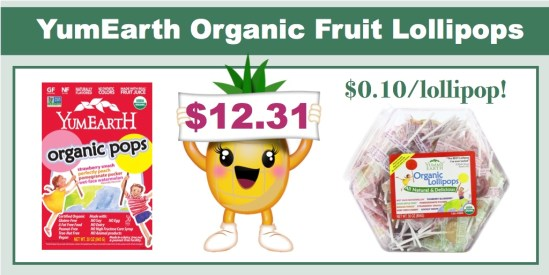 Yum Earth Organic Fruit Lollipops