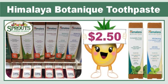 Himalaya Botanique Toothpaste coupon deal