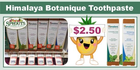 Himalaya Botanique Toothpaste coupon deal