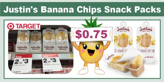 Justin's Banana Chip Snack Pack Coupon Deal