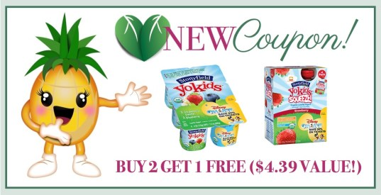 New Stonyfield YoKids B2G1 Coupon