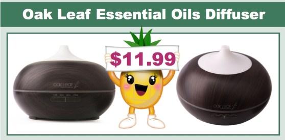 oak leaf essential oils diffuser