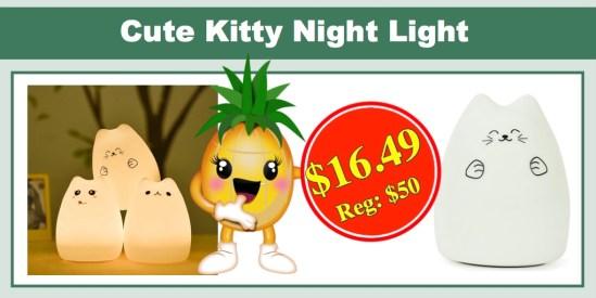 cute kitty LED night light