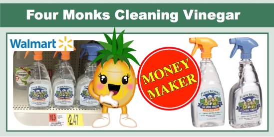 four monks cleaning vinegar coupon deal