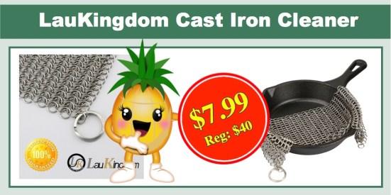 laukingdom 8x8 cast iron cleaner