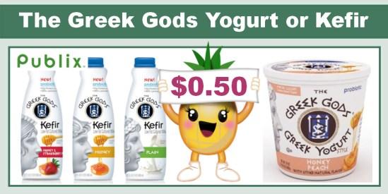 HOT** The Greek Gods Yogurt or Kefir Coupon Deal - As Low As