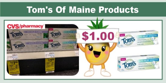 Tom's Of Maine Products Coupon Deal