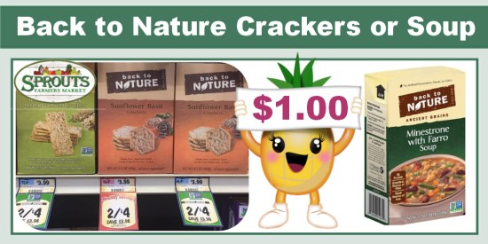 Back to Nature Crackers or Soup coupon deal