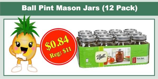 Ball Pint Mason Jars (12 Pack)