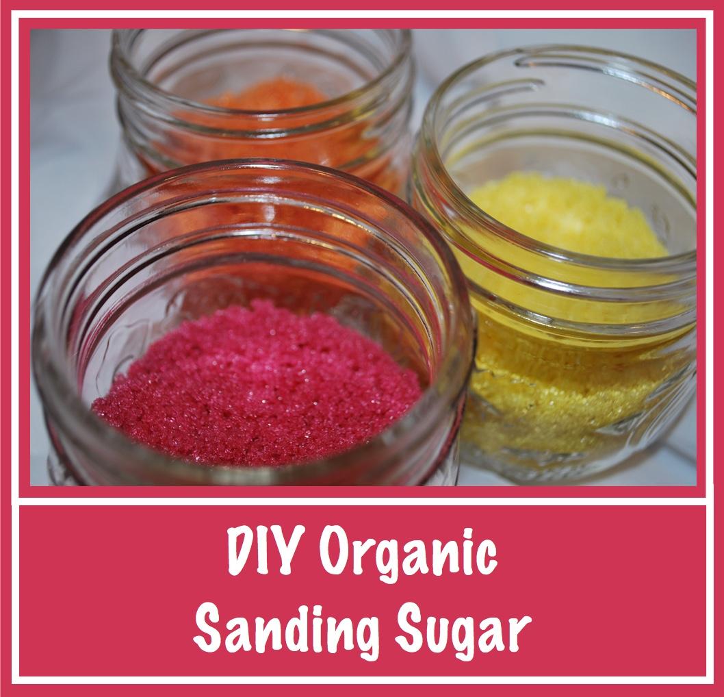 DIY: How to Make Organic Colored Sanding Sugar