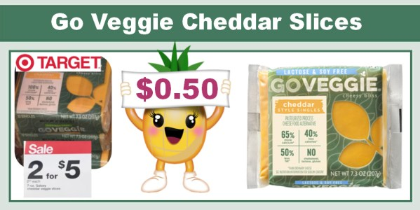 Go Veggie Cheddar Slices Coupon Deal