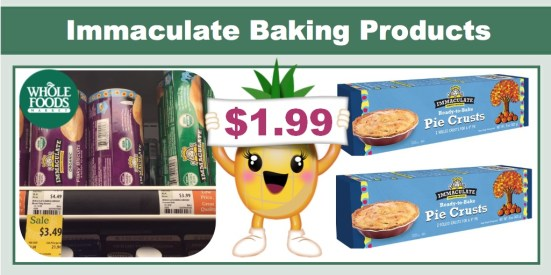 Immaculate Baking Products Coupon Deal