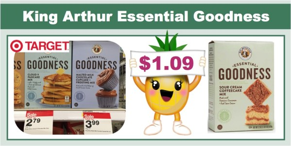 king arthur essential goodness baking mix coupon deal