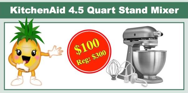 kohl's kitchenaid 4.5 quart stand mixer