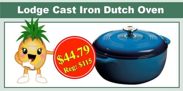 Lodge 6qt Enameled Cast Iron Dutch Oven