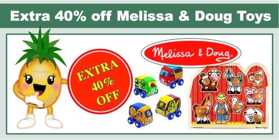 extra 40% off melissa & doug toys
