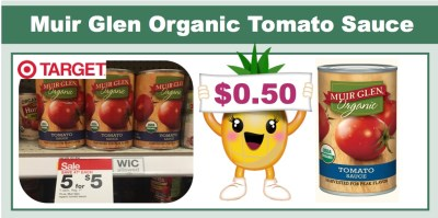 Muir Glen Organic Tomato Sauce Coupon Deal