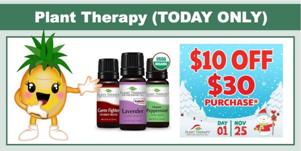 Plant Therapy Essential Oils - $10 off $30 Purchase!