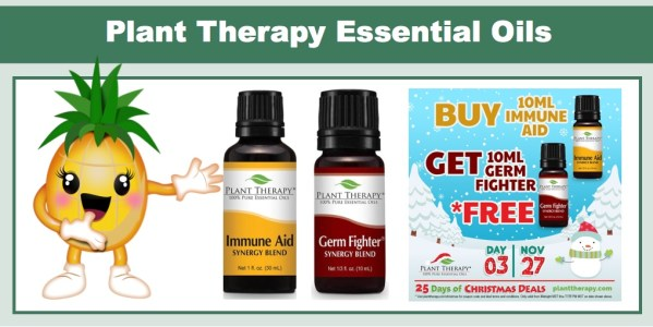 Buy 1 Plant Therapy Immune Aid, Get 1 Germ Fighter FREE!