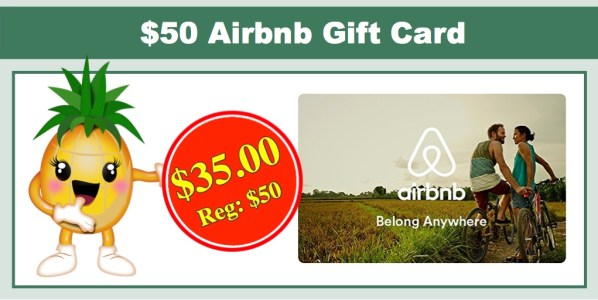 Hot 50 Airbnb Gift Card Only 35 00