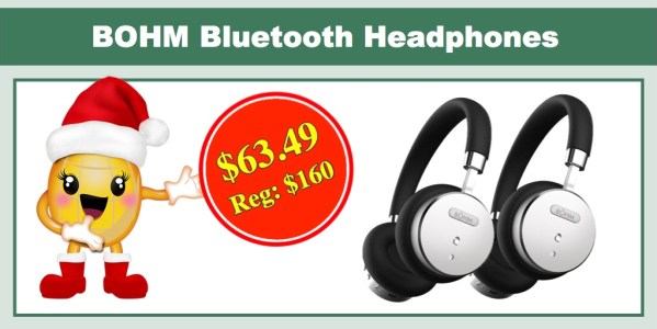 BOHM Bluetooth Wireless Noise Cancelling Headphones